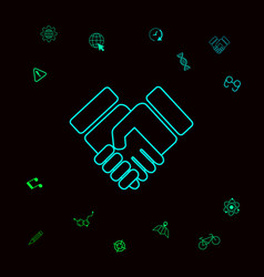 handshake symbol icon graphic elements for your vector image