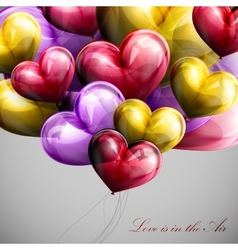 holiday flying bunch of balloons vector image