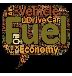 How to Get Better Fuel Economy text background vector