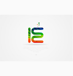 ie i e rainbow colored alphabet letter logo vector image