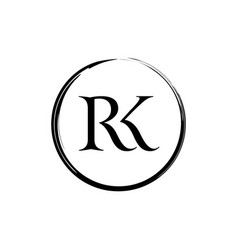 Initial and letter rk logo design vector