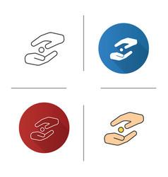 Islamic zakat icon vector