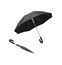 Isolated open and close umbrella vector