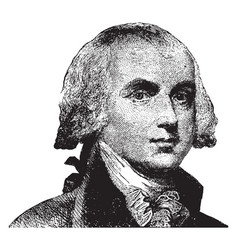 James madison vintage vector