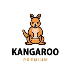 kangaroo thumb up mascot character logo icon vector image