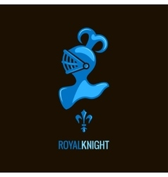Knight helmet royal design background vector