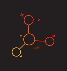 lab molecule icon design vector image
