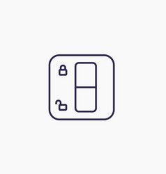 lock switch line icon on white vector image