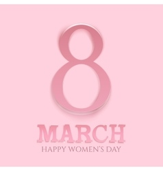 March 8 international womens day background vector