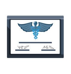 Medical diploma certification vector