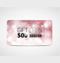 modern pink gift card template vector image
