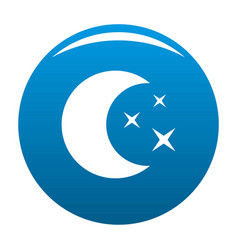 moon night icon blue vector image
