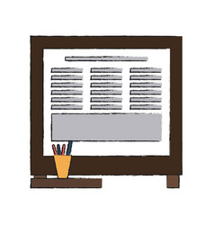 office cork board vector image