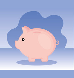 Piggy object to save sach money vector
