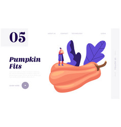 pumpkin food website landing page web page banner vector image