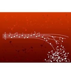 red notes vector image