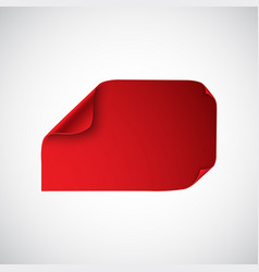 Red sheet of paper with curved corners vector