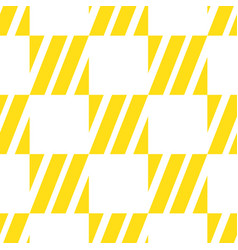 seamless geometric pattern with yellow white vector image
