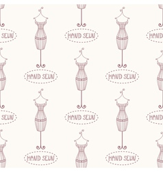 Seamless pattern with vintage iron mannequin vector image