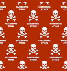 seamless pattern with white skulls and crossbones vector image
