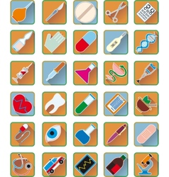 Set of medical accessories vector