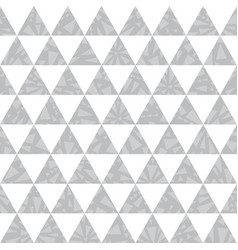 silver grey triangle textured seamless vector image