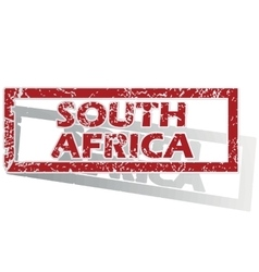 South Africa outlined stamp vector image