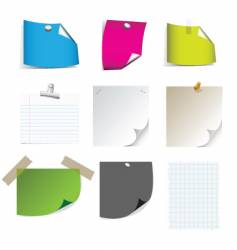sticky note pages vector image vector image