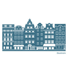 Stockholm - stortorget place in gamla stan vector