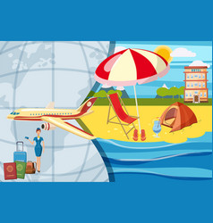 travel tourism concept cartoon style vector image