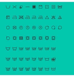 Wash Icons vector image