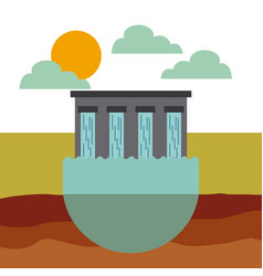 Water dam icon vector