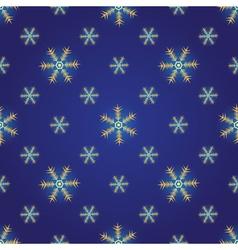 Winter dark blue seamless pattern vector