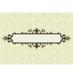 ornate frame and floral pattern vector image vector image