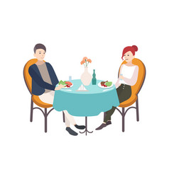 pair of young man and woman dressed in stylish vector image vector image