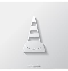 warning road cones icon vector image