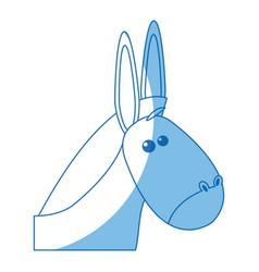 Donkey manger animal christmas image vector