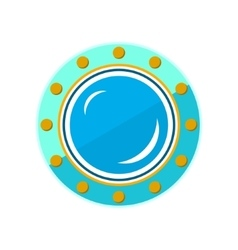 Round Ship Porthole Isolated on White vector image