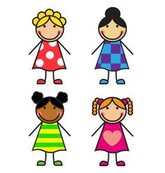 Set Cartoon Girls vector image vector image