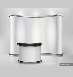 Trade exhibition stand display vector image