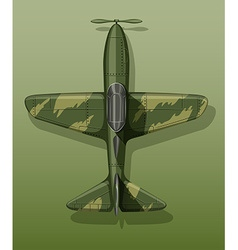 Army plane on green vector image vector image