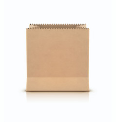 brown shopping paper bag vector image vector image