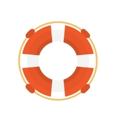 lifebuoy flat icon vector image vector image