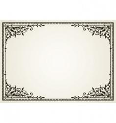 ornate swirl frames vector image vector image