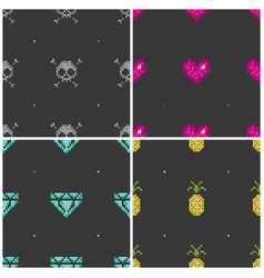 pixel seamless background vector image