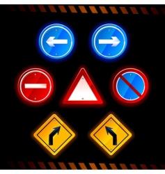 Road signs vector
