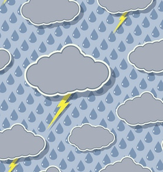 seamless rain cloud pattern vector image vector image