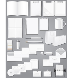 white blank samples for corporate identity design vector image