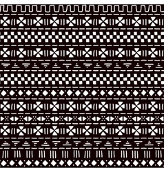 Black and white striped ornament traditional vector image vector image
