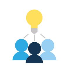 bulb idea on icon vector image